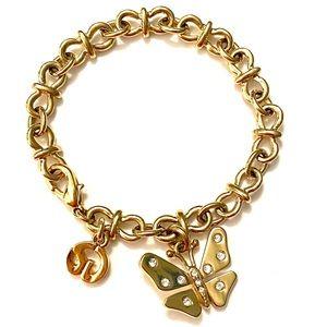 St John Butterfly Bracelet Vintage Gold